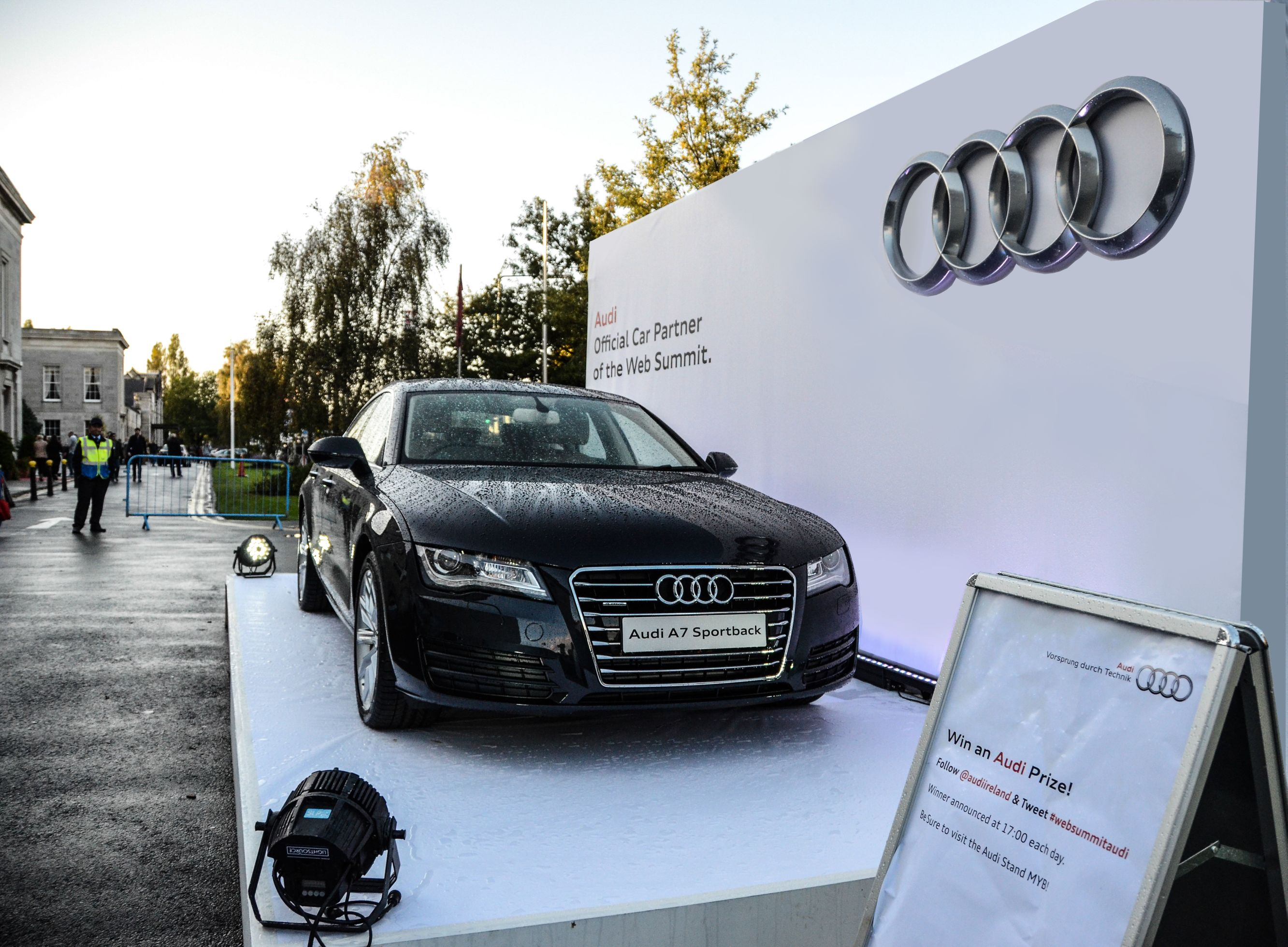 Audi Websummit outdoor display in association with Pluto Events