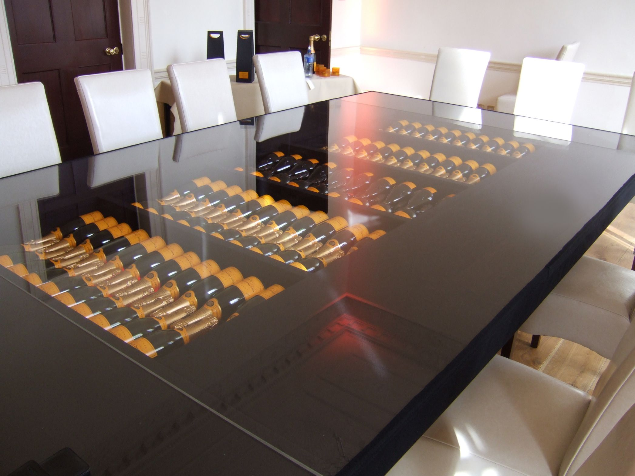 Veuve Clicquot table set in association with Edward Dillon