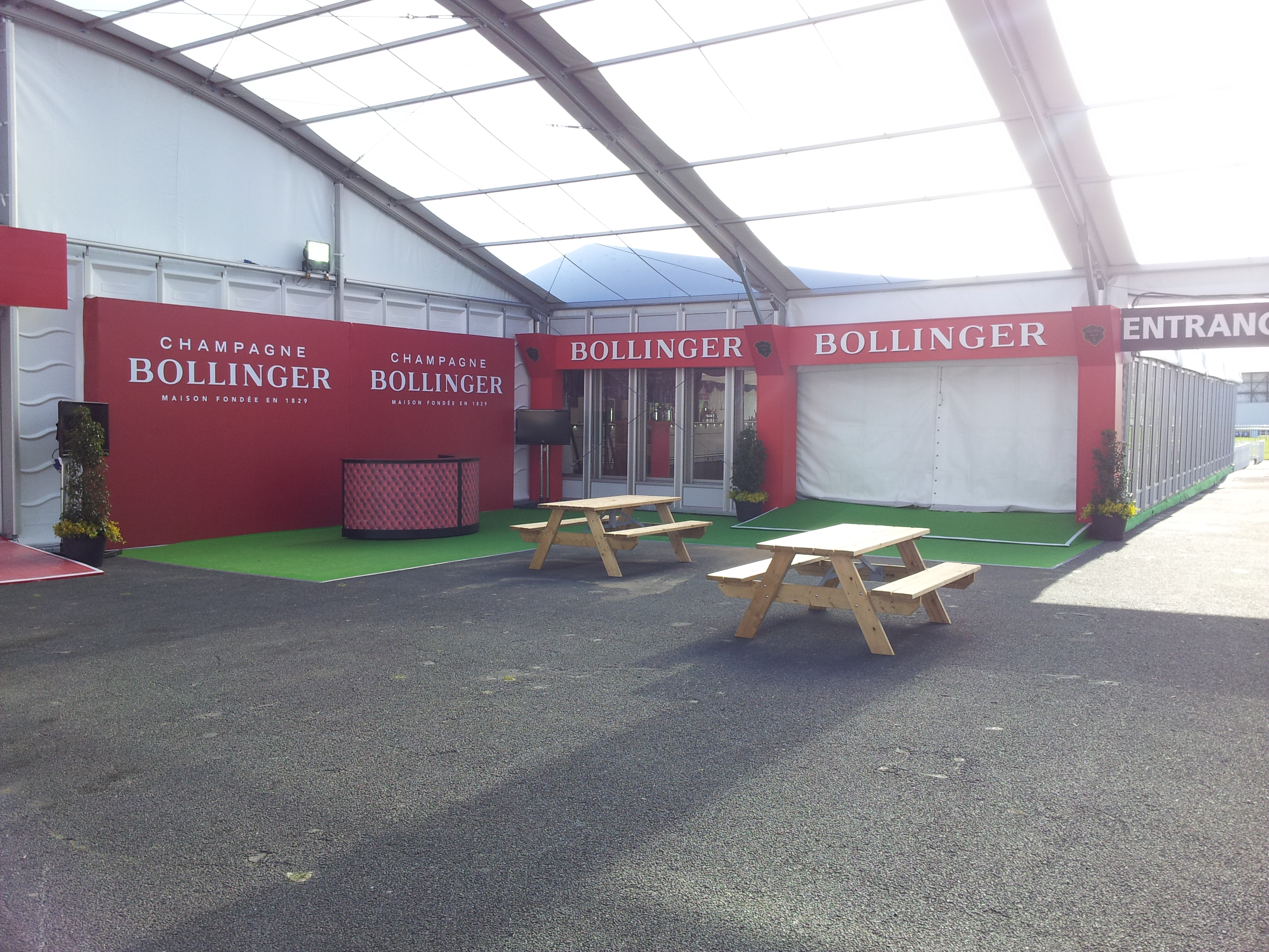 Bollinger Champagne Marquee Entrance at Punchestown