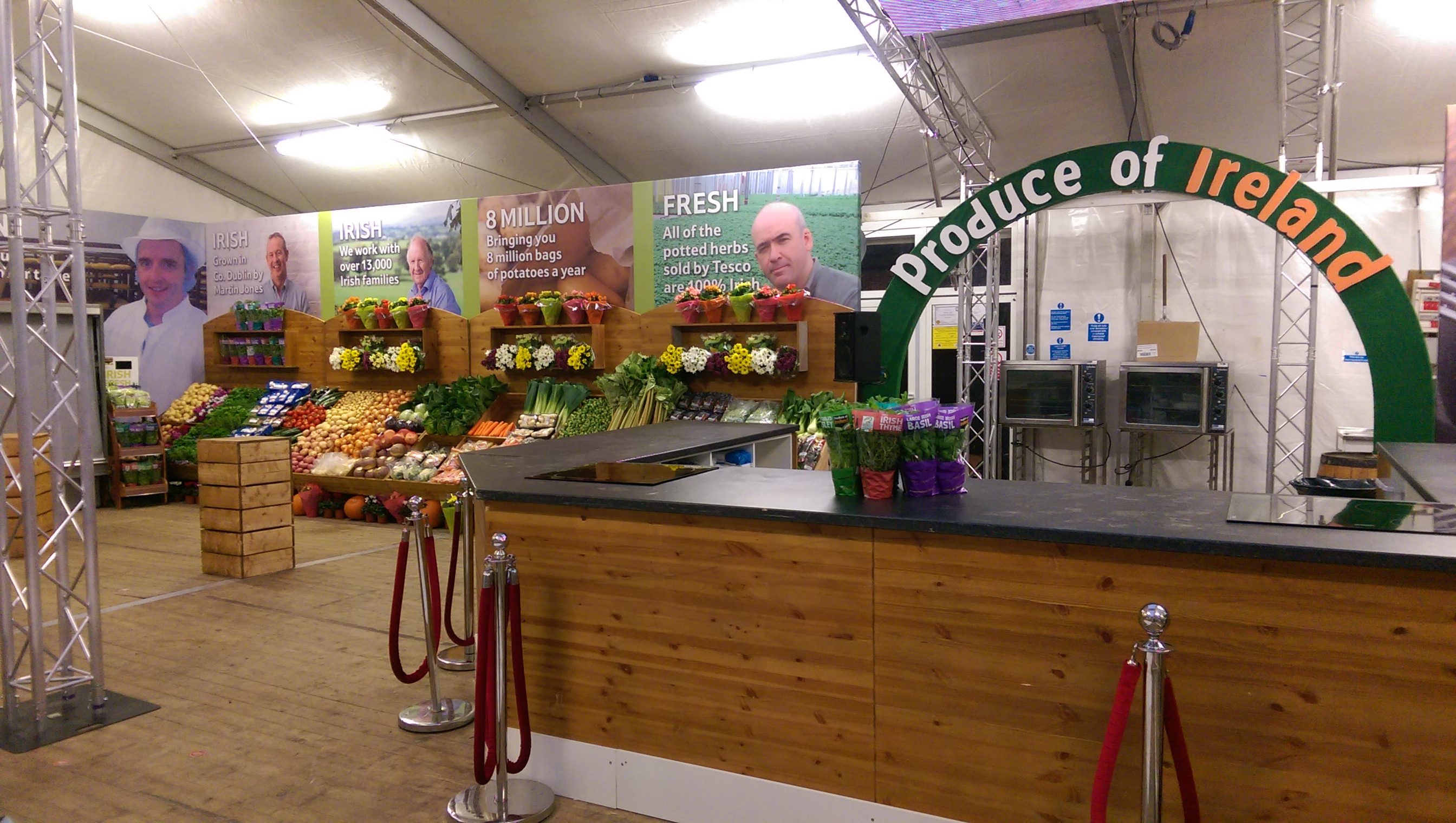 Food Stall for Tesco in association with Back Up Marketing