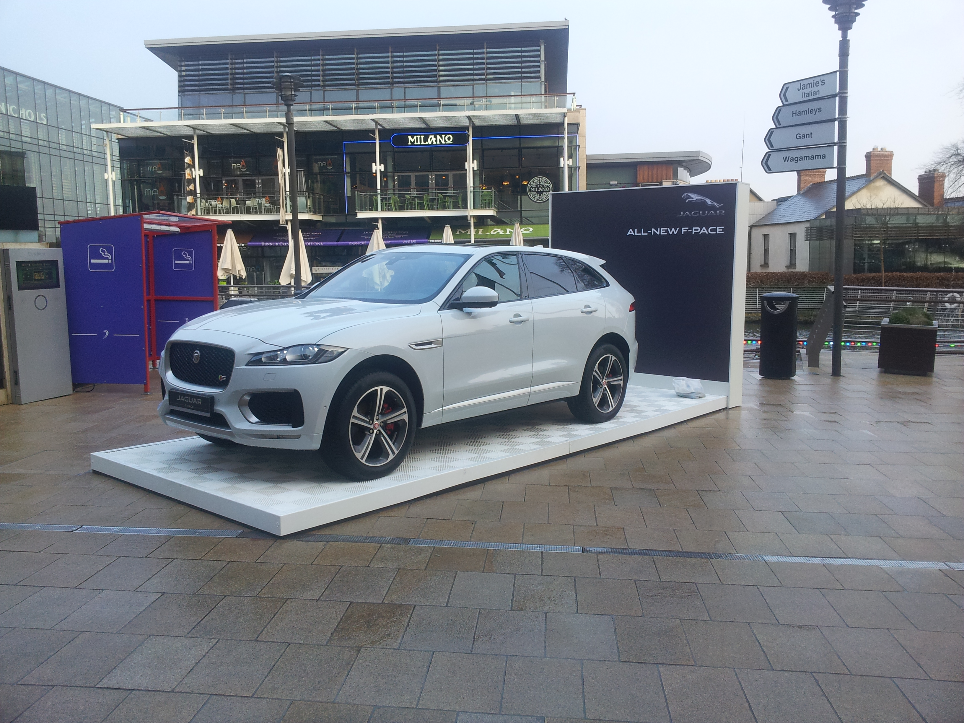 New Jaguar F-Pace at Dundrum Town Centre in association with Automotive Team