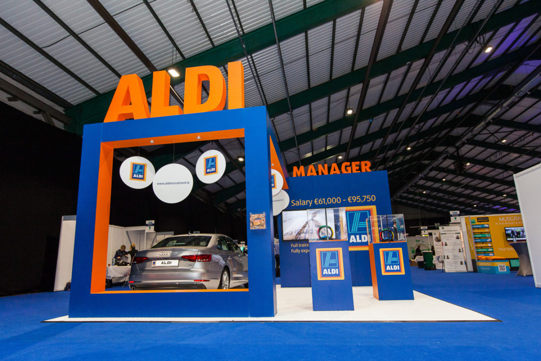 Aldi stand at Grad Ireland in association with Pluto Events