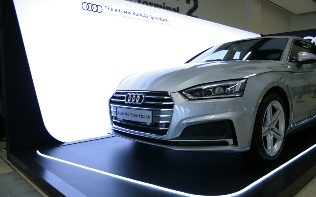 Audi Plinth at Dublin Airport in association with Pluto Events