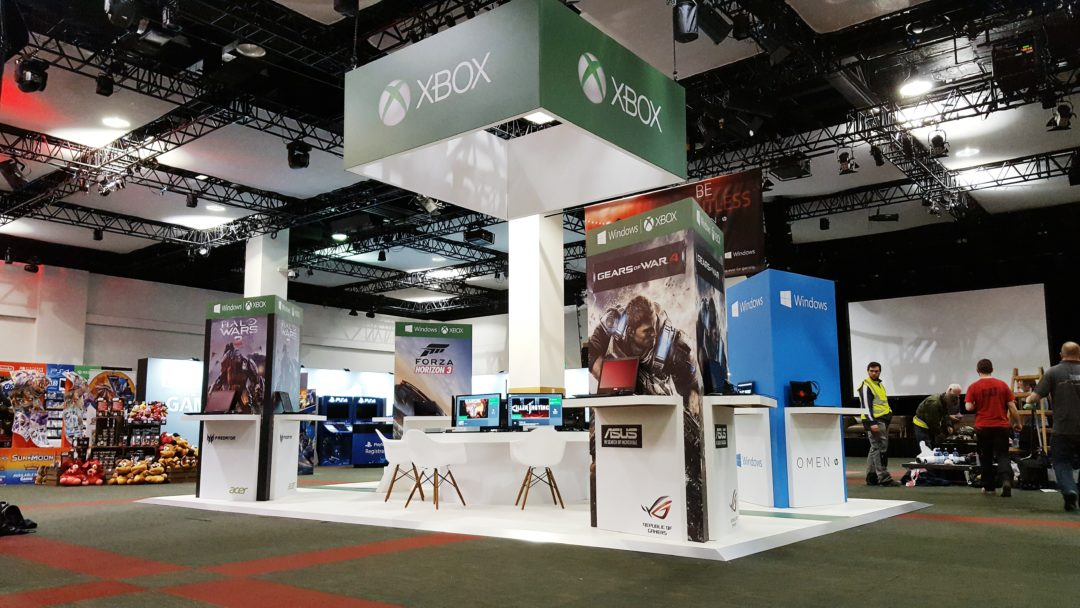 Modern Exhibition Stand Xbox One : Microsoft xbox stand in association with pluto events podium