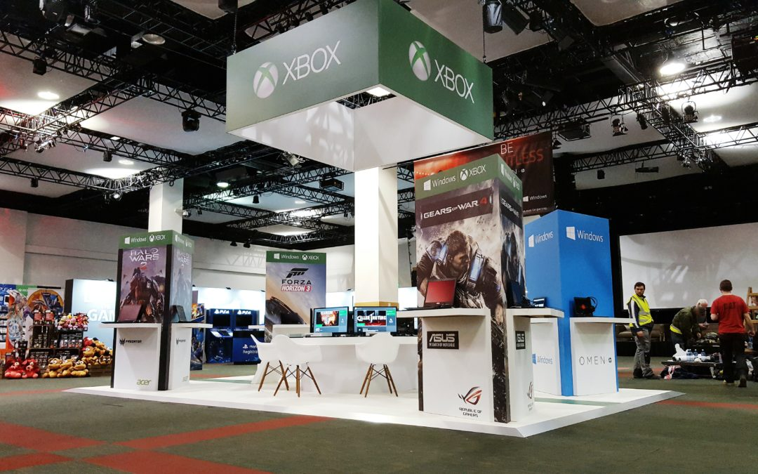 Microsoft Xbox stand in association with Pluto Events