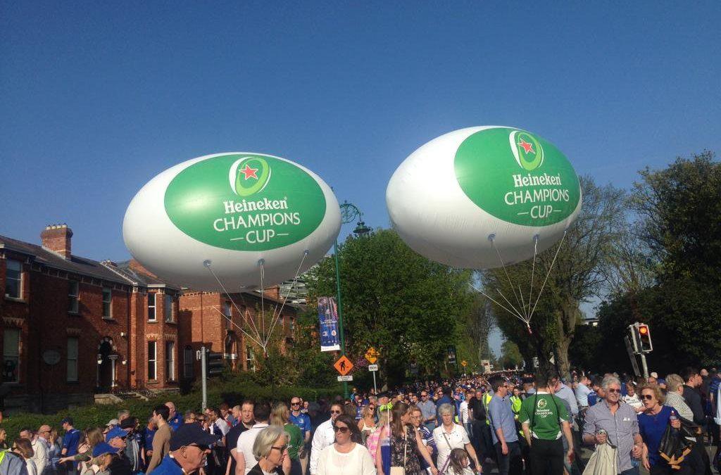Bespoke Heineken Champions Cup Helium Balloons